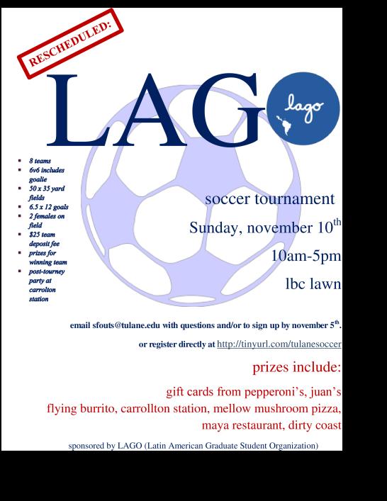 New LAGO Soccer Flyer